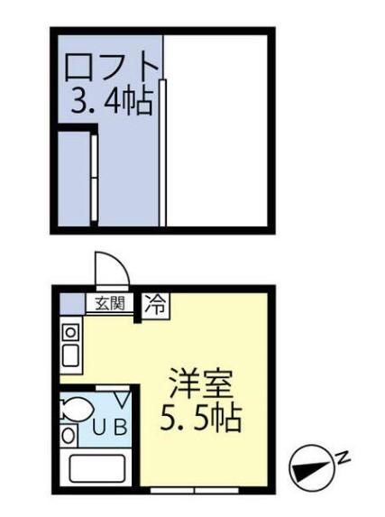 マイプラン中野坂上・202号室の間取り