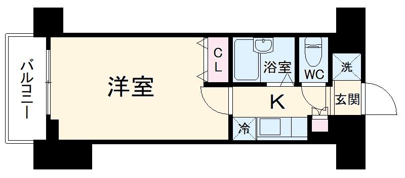 フェニックス横濱井土ヶ谷 205号室の間取り
