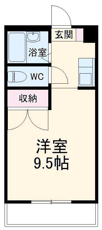 Mh-Arc三蔵子・105号室の間取り