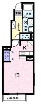 サンヴェール・F・01020号室の間取り