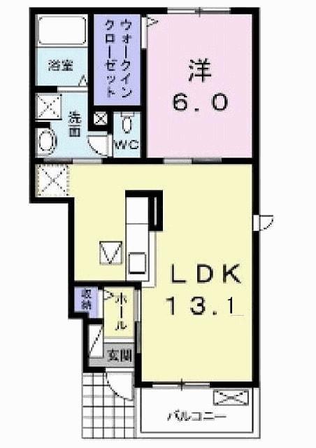 サニーハウス・01020号室の間取り