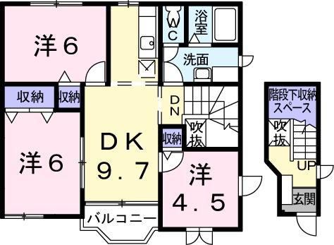 エターナル・パレスC 02010号室の間取り