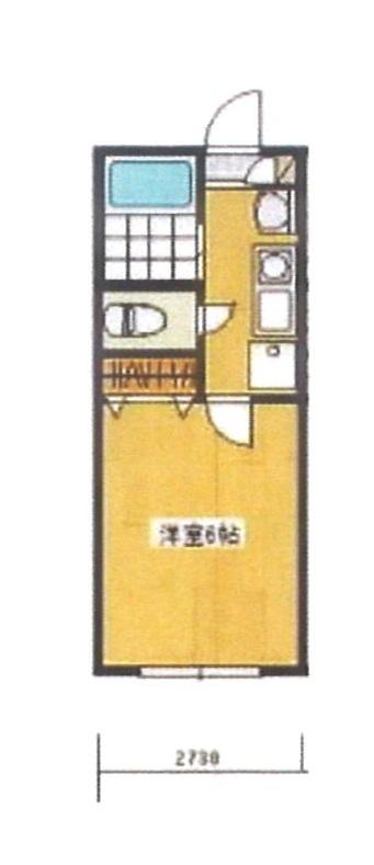 フォレストハウス鎌ヶ谷・206号室の間取り