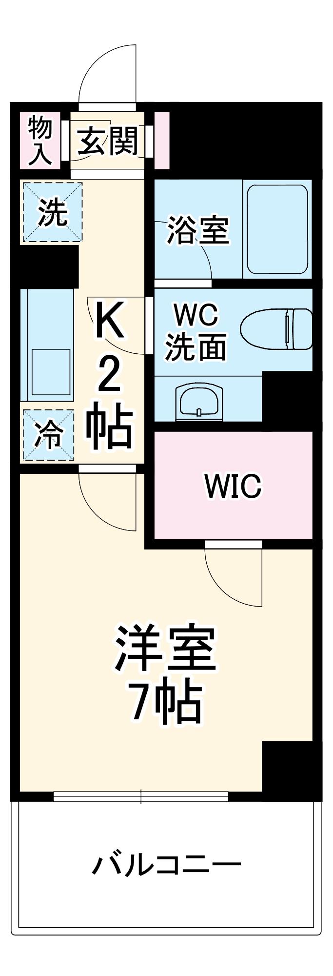 フィーノ武蔵小杉 402号室の間取り