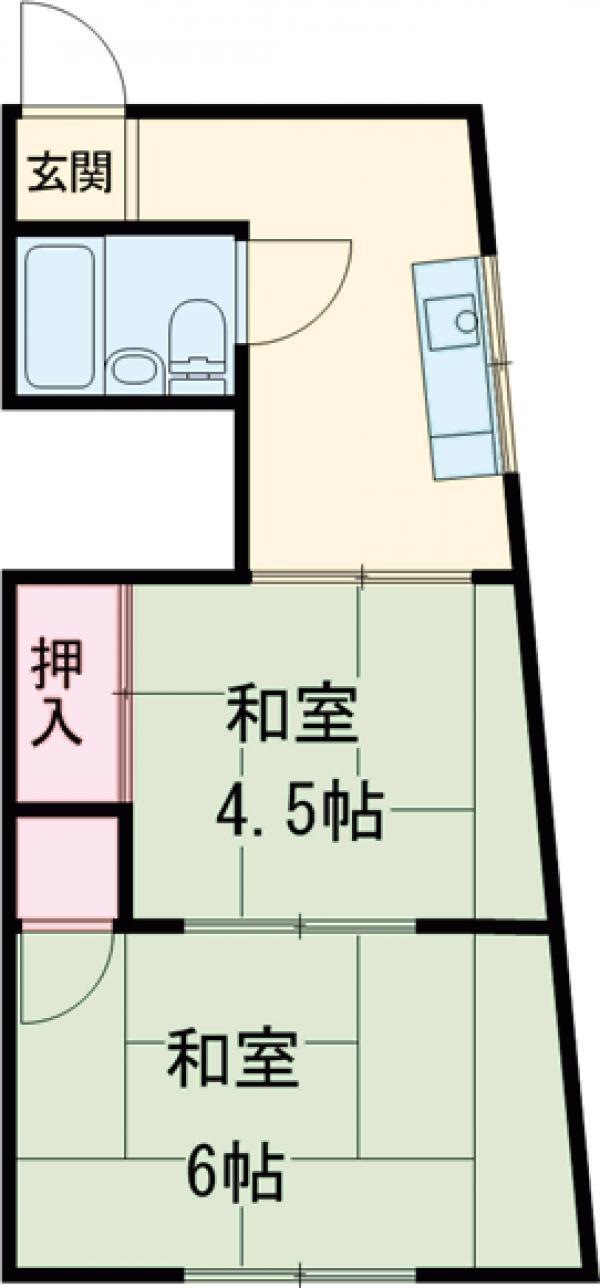 長谷川ビルディング 4-B号室の間取り