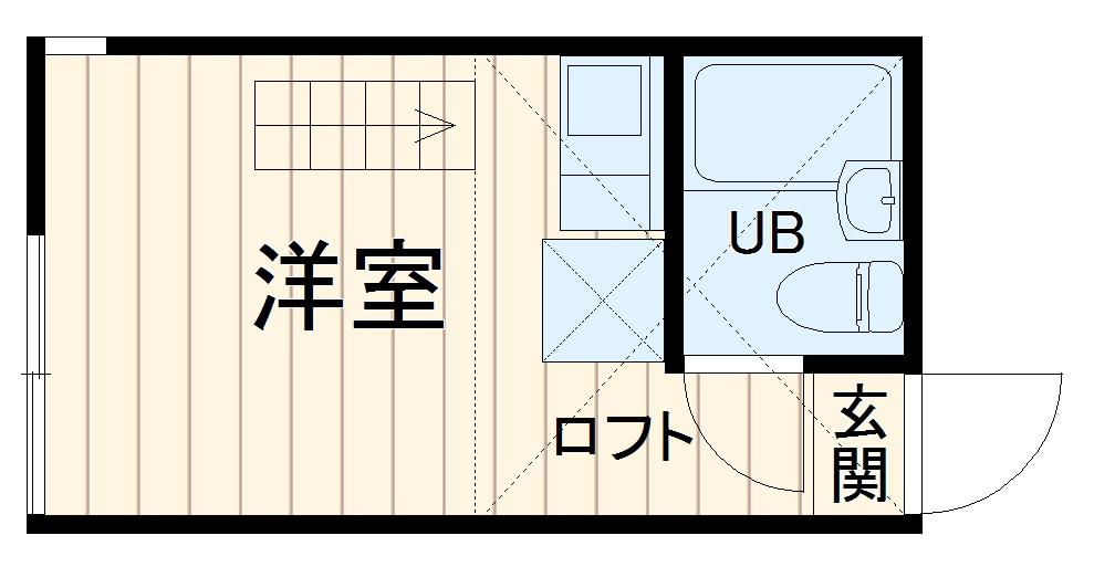 ユナイト日吉クイーン・マカダミア 107号室の間取り