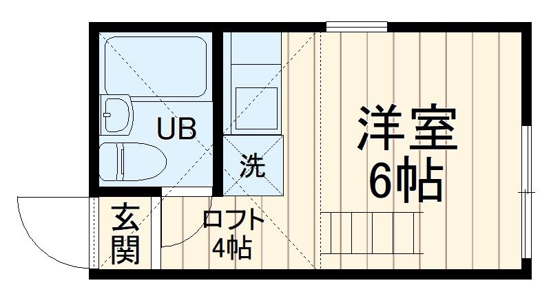 ユナイト日吉クイーン・マカダミア・205号室の間取り