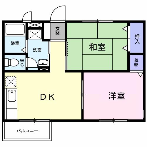 ソレイユ桜台C・02010号室の間取り