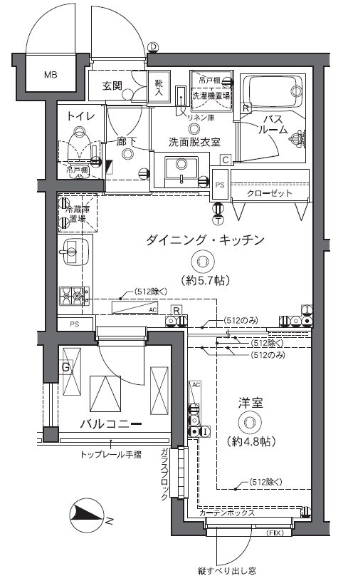ZOOM中野坂上・314号室の間取り