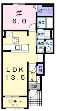 ハウス なごみⅡ・01020号室の間取り