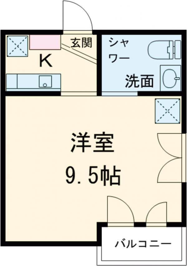 フェリシテ大田区中央 201号室の間取り