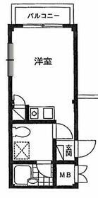 宮町マンション・407号室の間取り