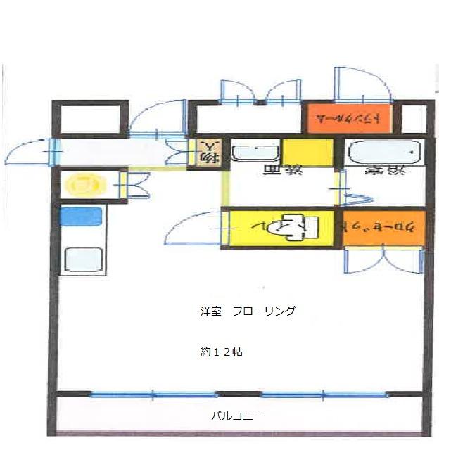 ベース浜田・502号室の間取り