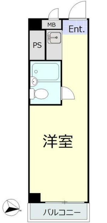 五反田ダイヤモンドマンション 1309号室の間取り