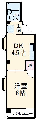 ヌカリヤハイツ・202号室の間取り