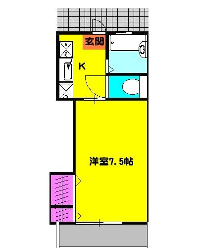 ベルハイム21・203号室の間取り
