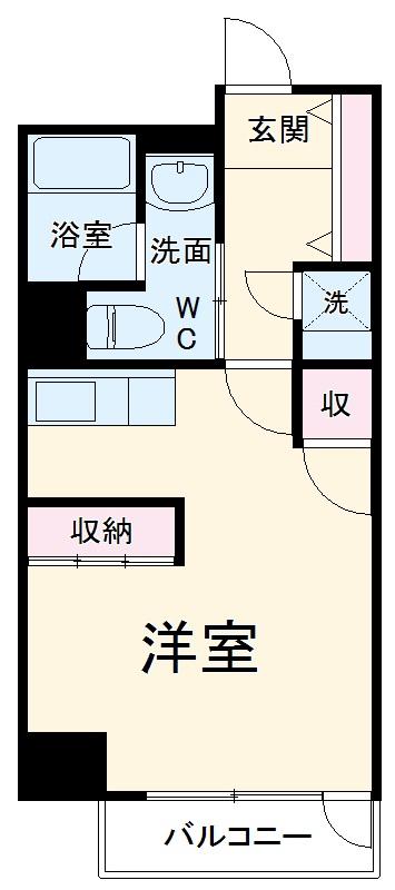 S-FORT静岡本通 502号室の間取り
