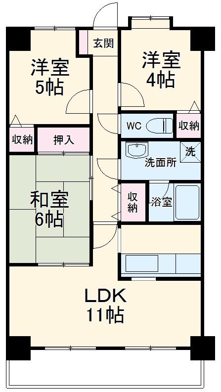 SGKマンションパピオ-ル・309号室の間取り