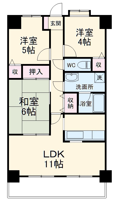 SGKマンションパピオ-ル・607号室の間取り