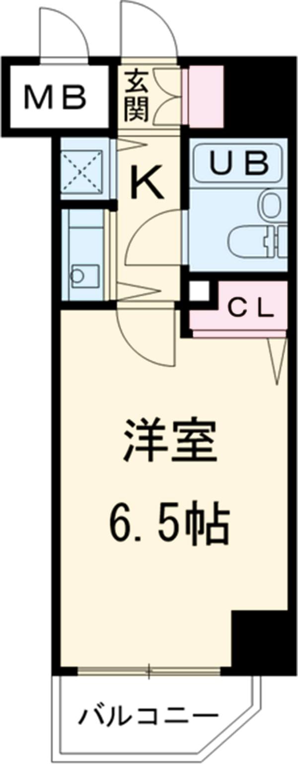 サニークレスト湘南平塚浅間町 705号室の間取り