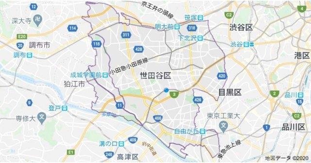 プライマリー桜新町 503号室の地図