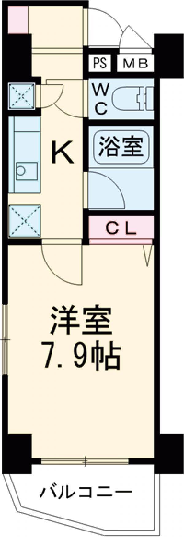 ル・リオン赤羽Ⅱ・601号室の間取り