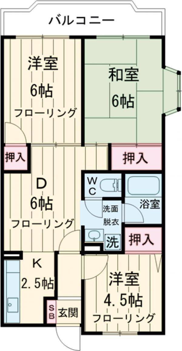 グリーンハイツ飯田・203号室の間取り
