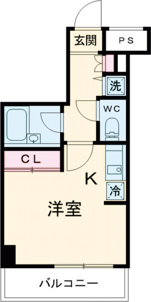 スカイコート品川大崎・502号室の間取り