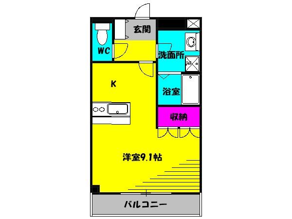 アバンティ・K2・105号室の間取り