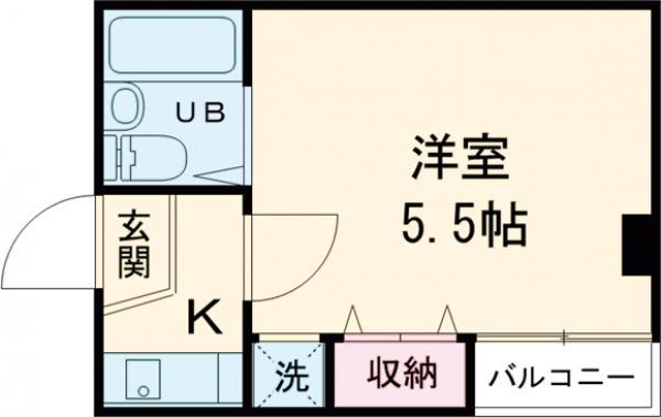 リバーストーン五反田・304号室の間取り