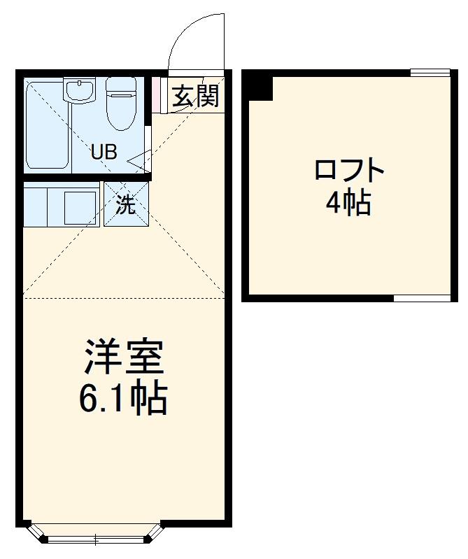 ユナイトステージ井土ヶ谷カンパネルラ・103号室の間取り