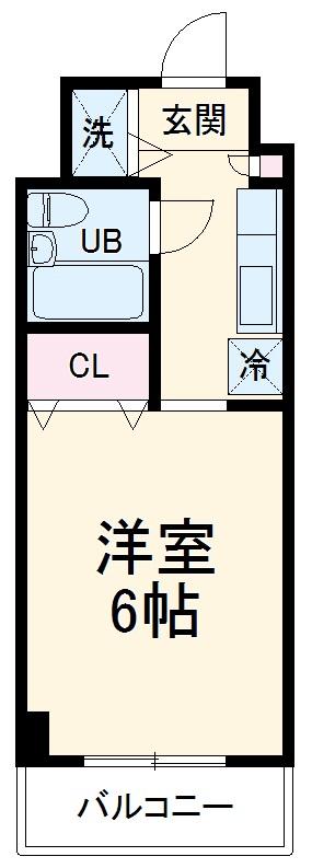 ハイライフ湘南・106号室の間取り