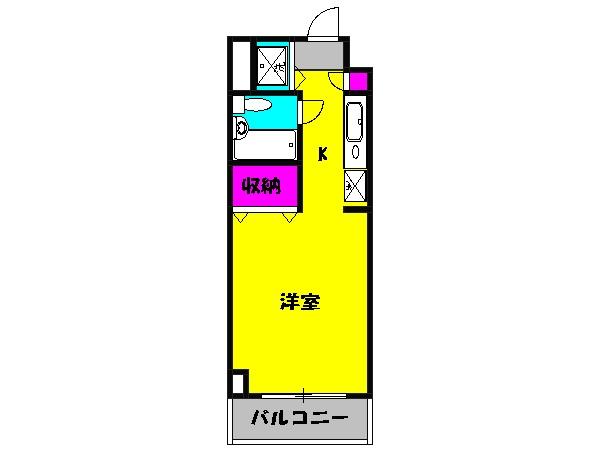 ハイライフ湘南・306号室の間取り