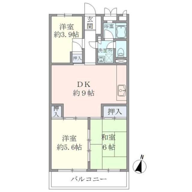 新藤マンション・207号室の間取り