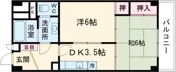 須賀マンション 702号室の間取り