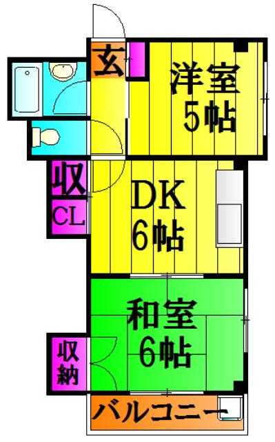 木村マンション・301号室の間取り