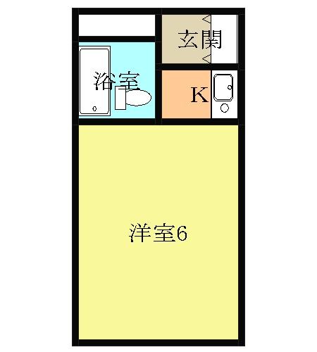 コスモ21梅坪Ⅱ・201号室の間取り