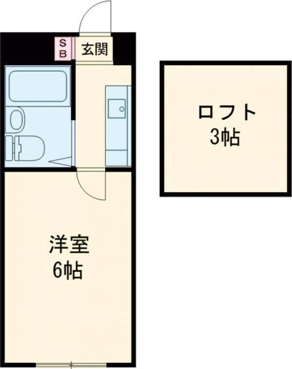 ロフトハウス大森鹿島・203号室の間取り