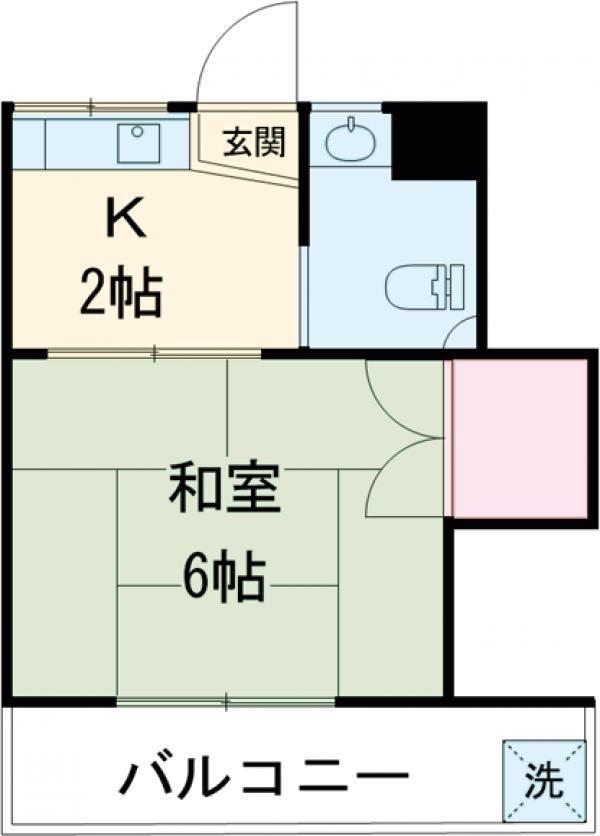北川ハイツ 303号室の間取り