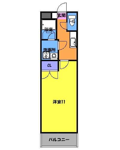 PARQUE HIMORI 206号室の間取り