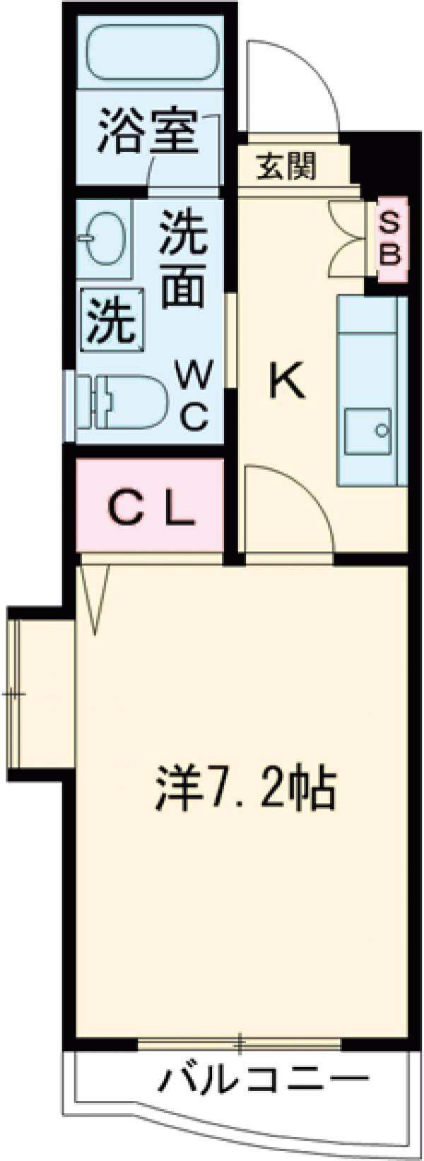 S・FLATⅡ・2203号室の間取り