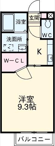 プチキャッスルⅡ・2C号室の間取り