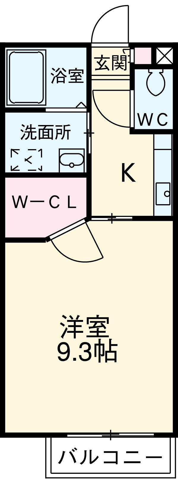 プチキャッスルⅡ・3-2F号室の間取り
