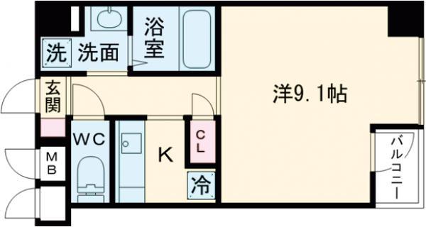 D-RoomStay洗足・506号室の間取り