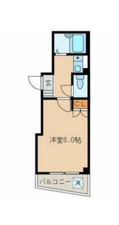 MALT.S TAKANAWA・201号室の間取り