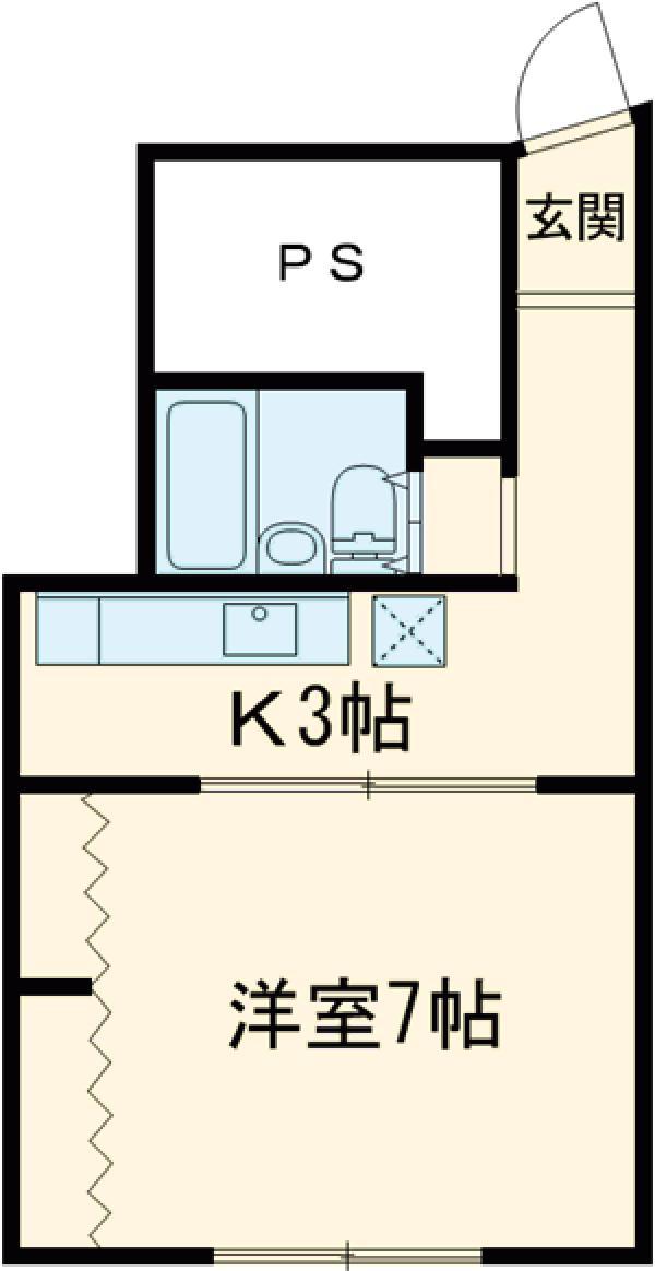 富士マンション・403号室の間取り