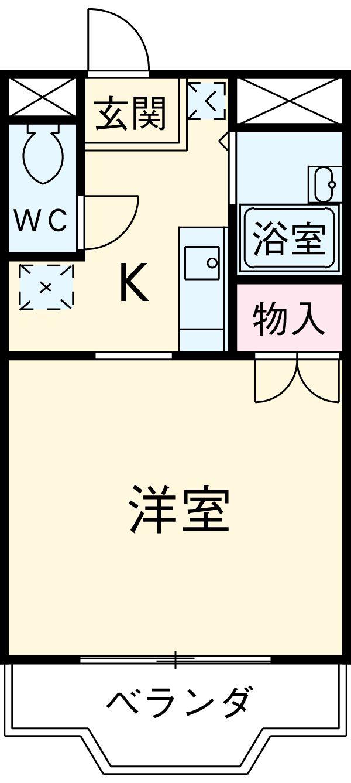 三好ヶ丘ハイツ・2-A号室の間取り