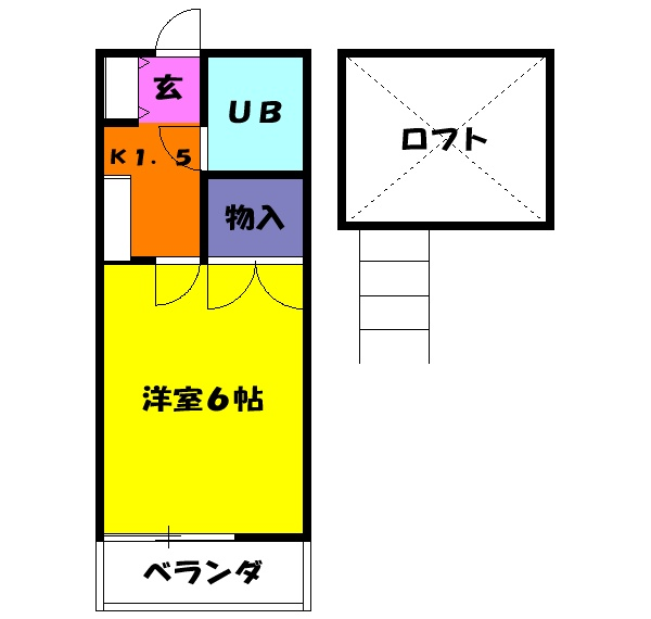 メゾン桑田パートⅡ 203号室の間取り