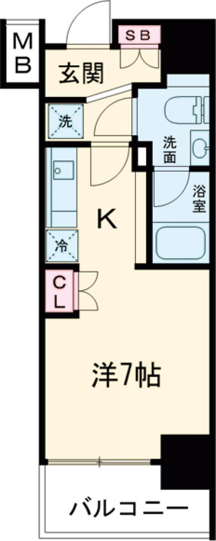 SIL西五反田・901号室の間取り