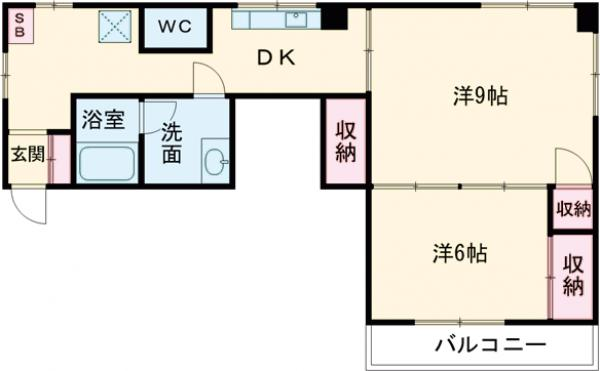 新井ビル 303号室の間取り